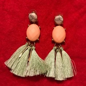 Mint & Peach Earrings